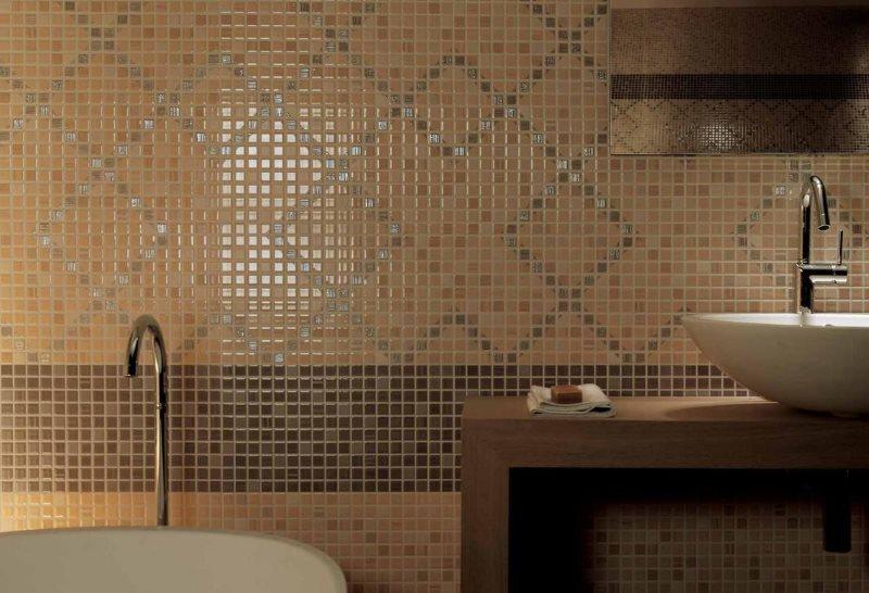 Геометрические узоры из керамической мозаики