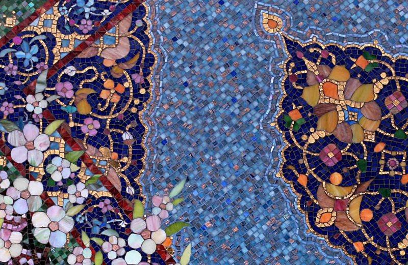 Пример мозаичного панно из многогранной плитки