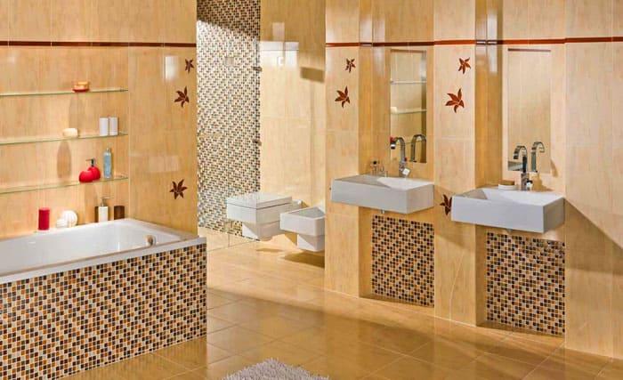 Фото плитки-мозаики для ванной комнаты