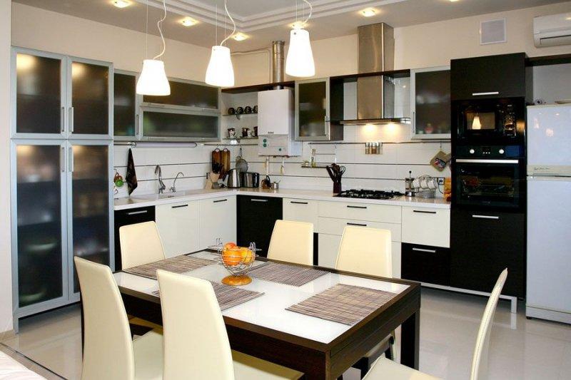 Дизайн кухни отделка потолков