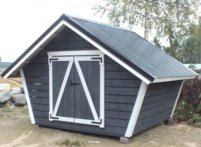 традиционный финский дровяник