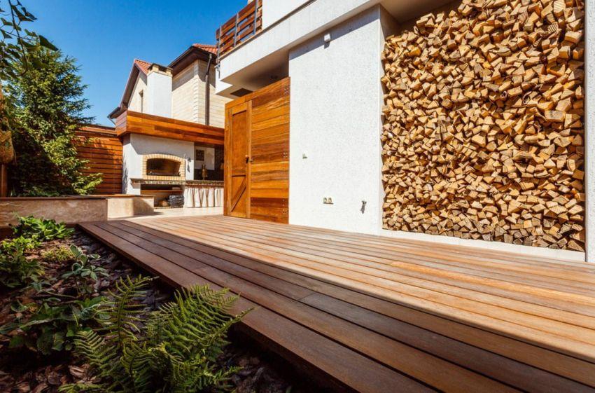надежная крыша для дровяника на даче