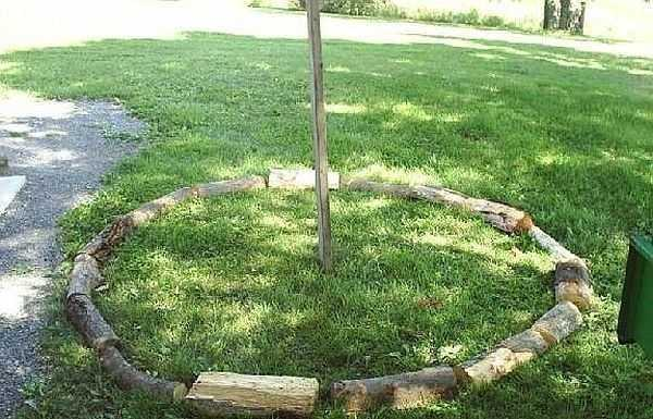 как сложить дрова в круглую поленницу