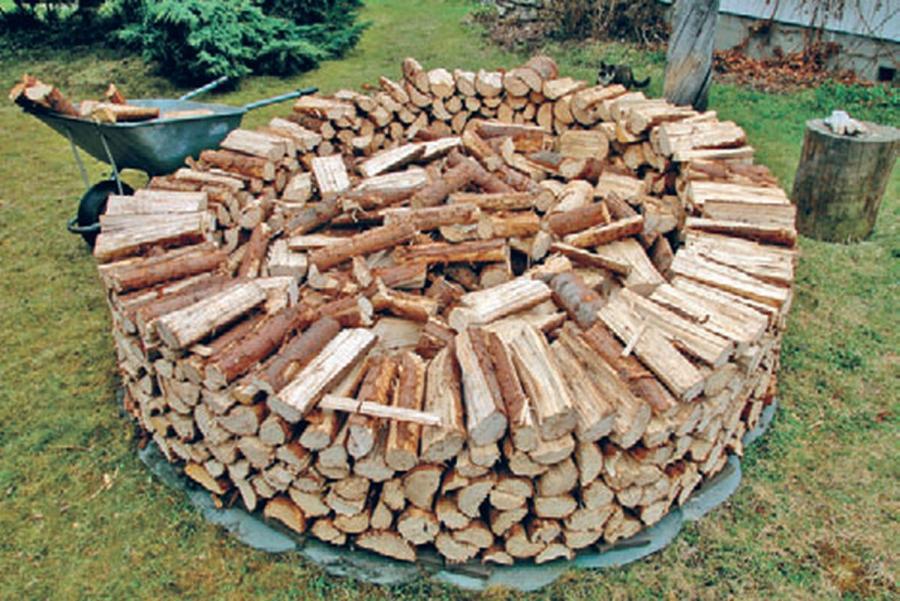 круговой метод укладки дров