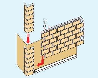 Схема установки компонентов сайдингового покрытия