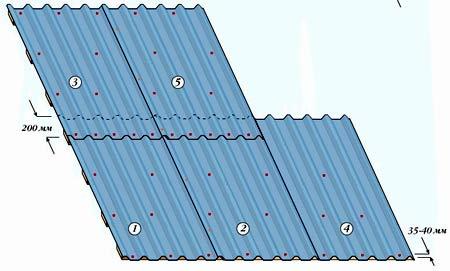 Чертеж сарая с односкатной крышей
