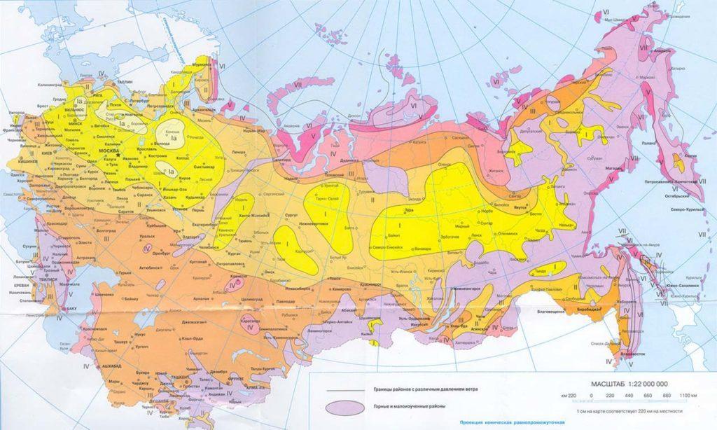 карта ветра