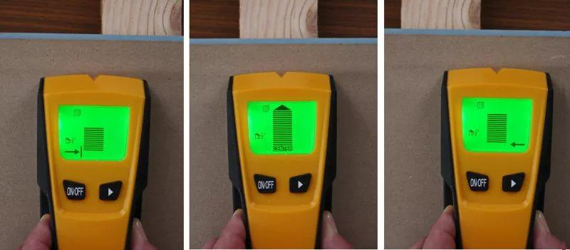 Перед покупкой детектор электропроводки лучше проверить в действии