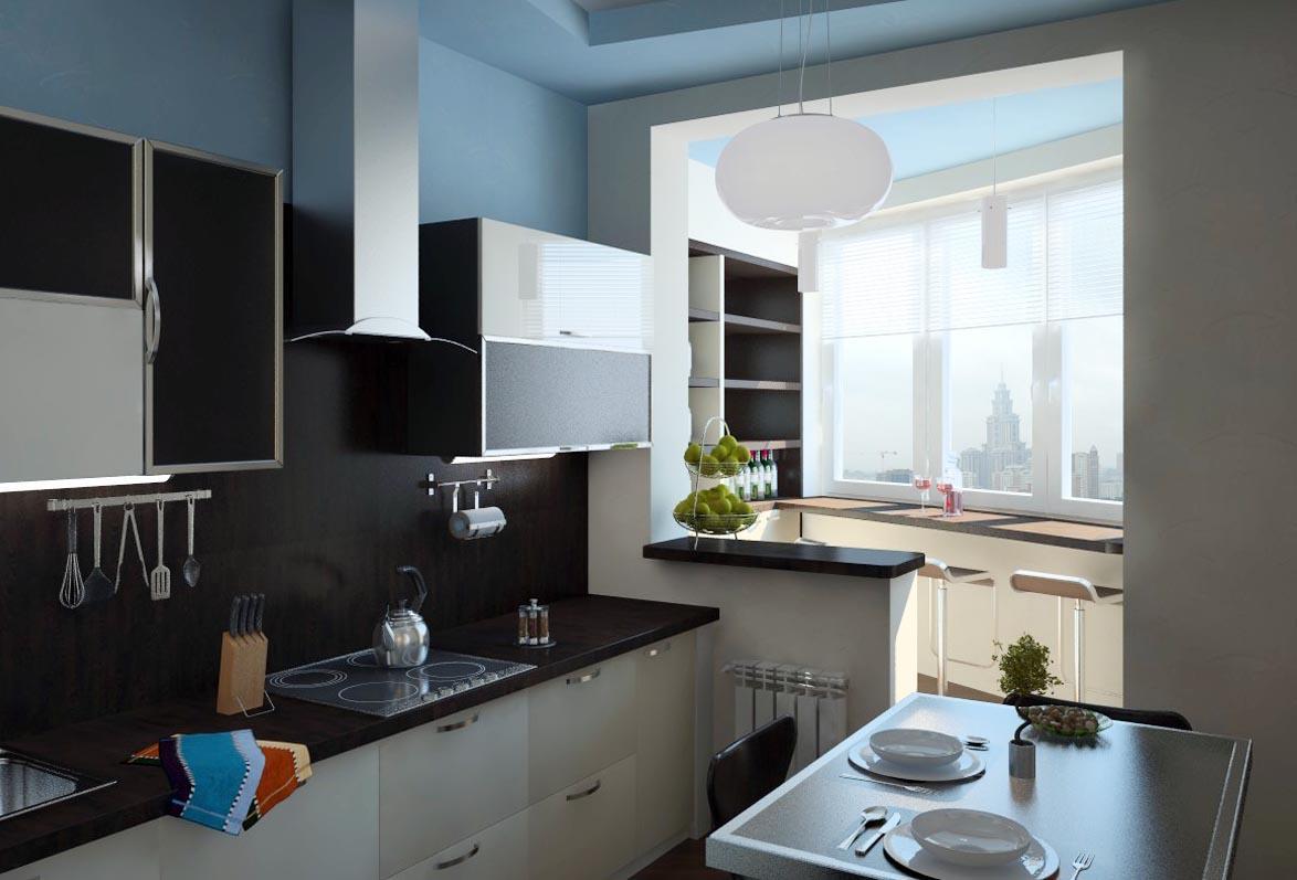Перепланировка: кухня соединяется с балконом