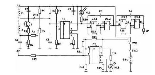 Детектор на базе приемника радиосигнала
