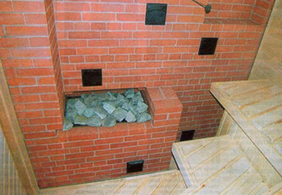 Печь-каменка из кирпича