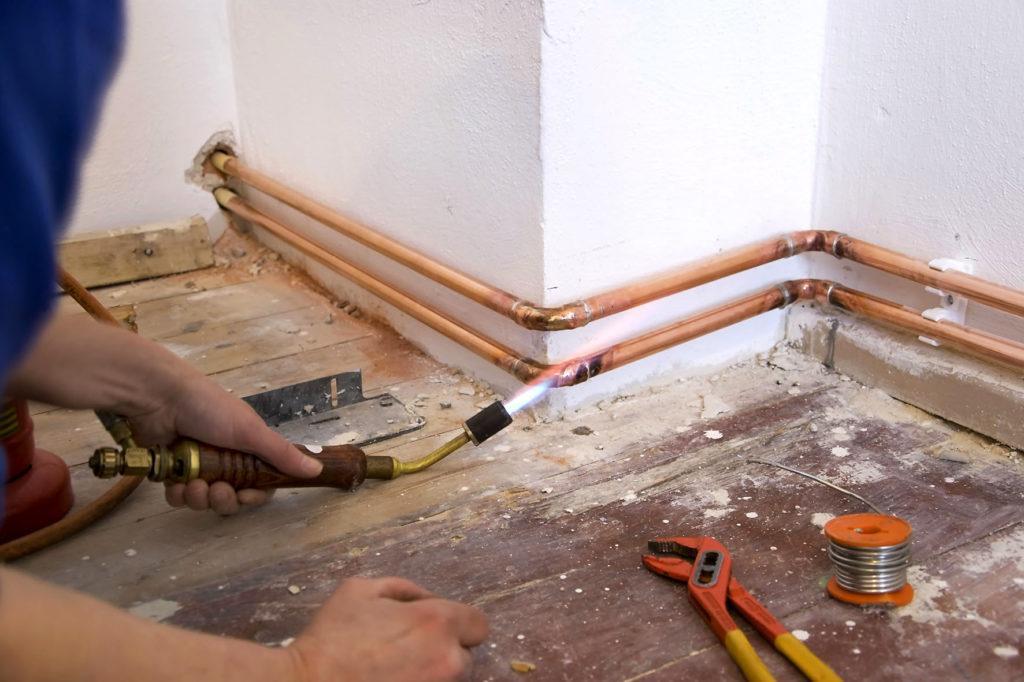 Пайка труб для радиаторов отопления