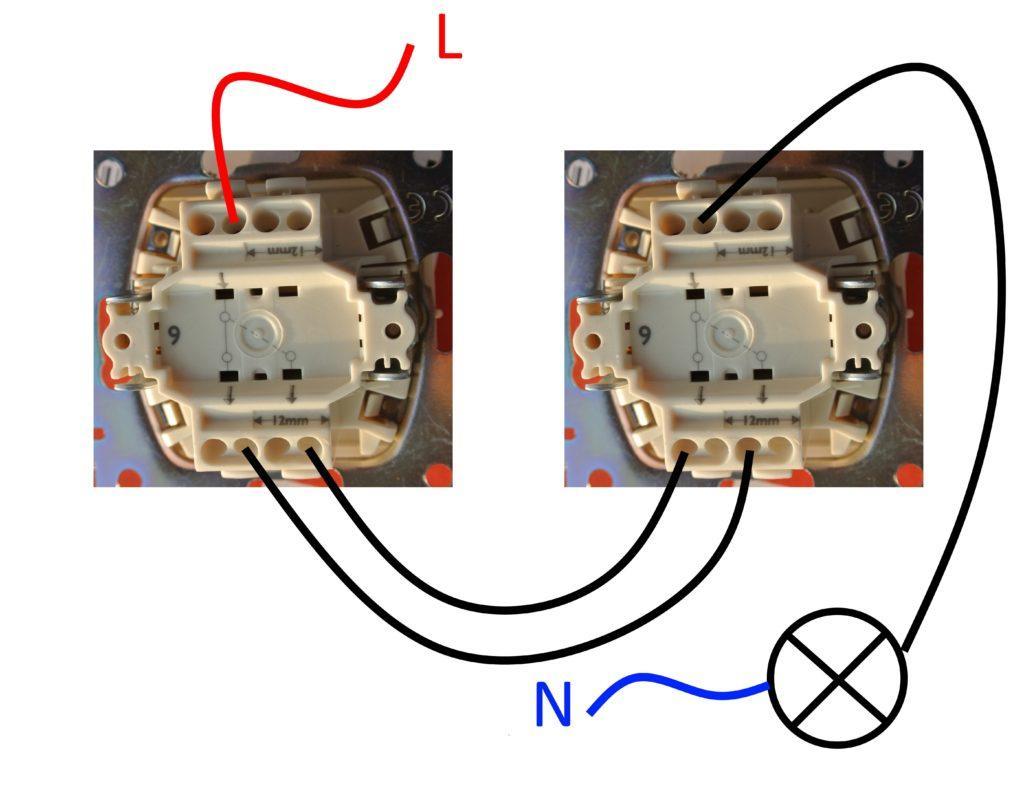 Схема проходного диммера
