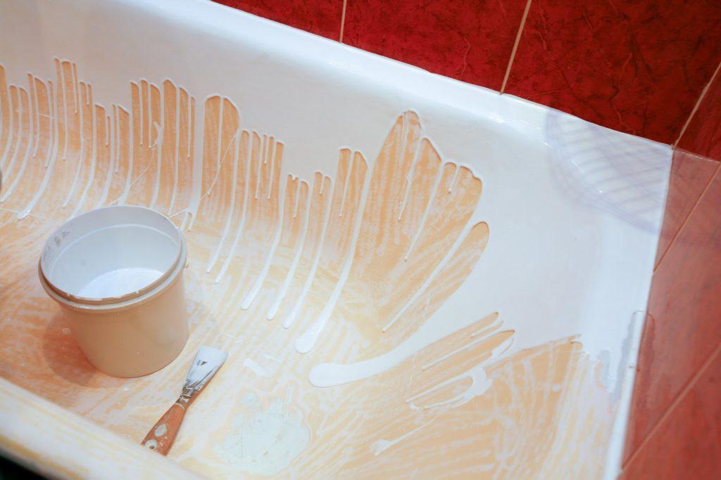 Восстановление ванны эмалью