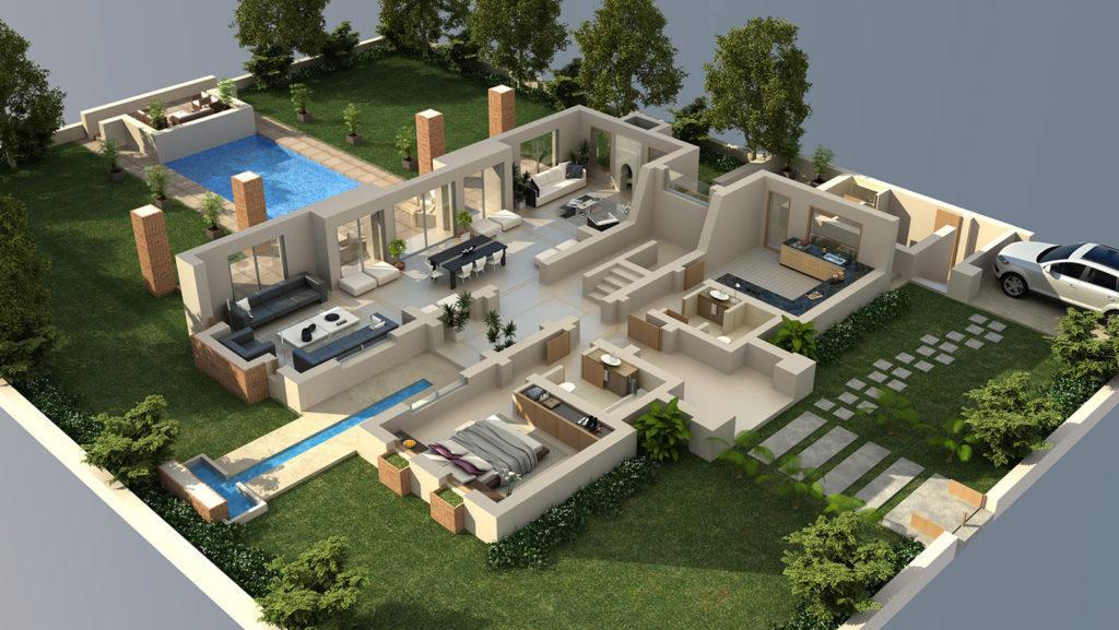 Проектирование дома в 3D
