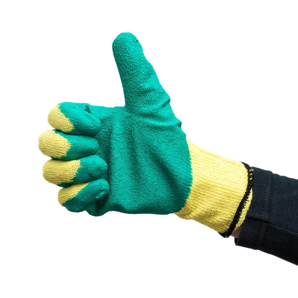 Защитные перчатки для монтажа откосов пластиковых окон