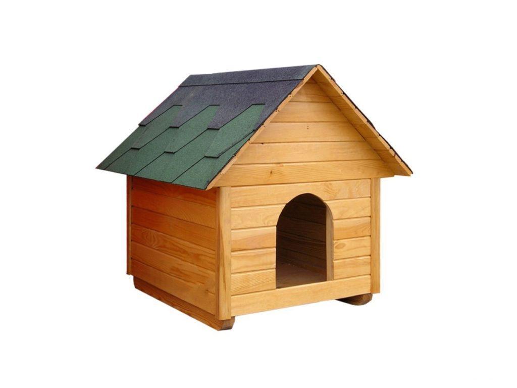 Будка для собаки с двускатной крышей