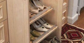 Полка для обуви из кухонного шкафа