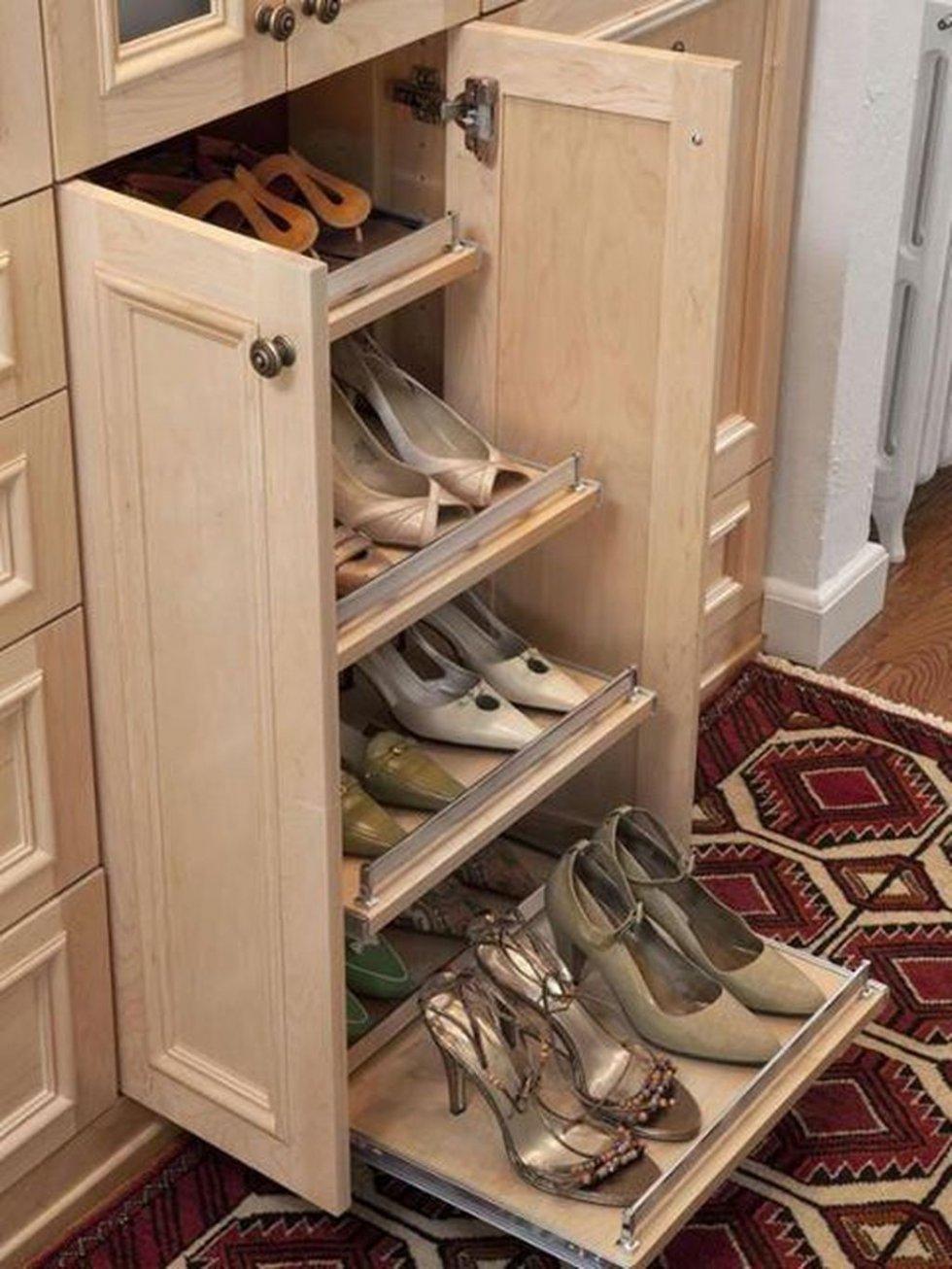 Как сделать компактную обувницу