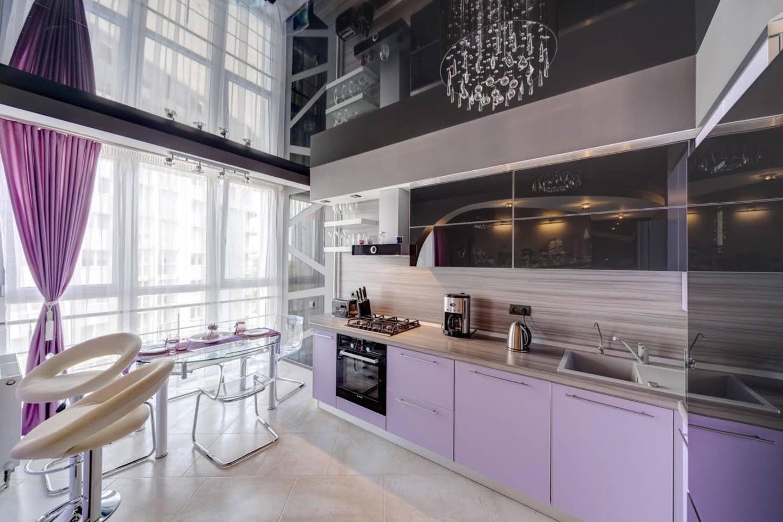 черный натяжных потолков на кухню фото увы после